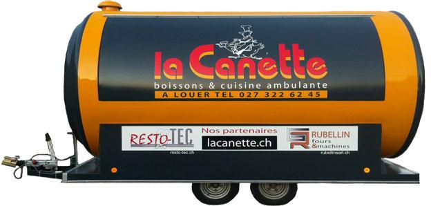 """""""La canette"""" est le premier food truck disponible à la location pour toute la suisse,"""